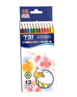 12 צבעי עיפרון - זפיר
