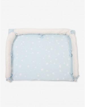 משטח החתלה ג'רסי לשידה כחול כוכבים - מבית מיננה - בזאר שטראוס