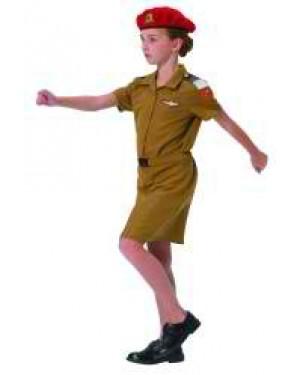 תחפושת חיילת צנחנים חצאית - בזאר שטראוס