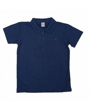 חולצה קצרה פולו לנוער | צבע כחול