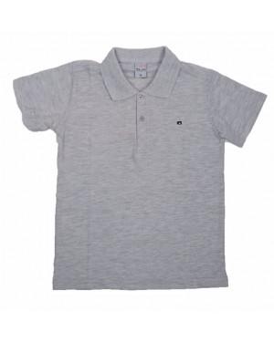 חולצה קצרה פולו לנוער   צבע אפור