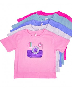 חולצה פייטים מצלמה צבעים לבחירה מידות 10-18