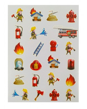 מדבקות מכבה אש 10 דפים באריזה