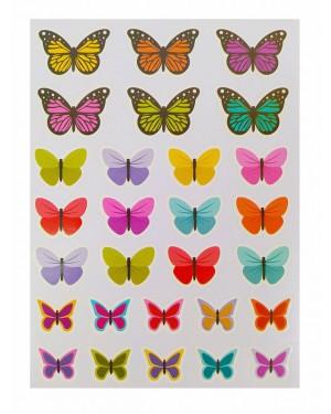 מדבקות פרפרים 10 דפים באריזה