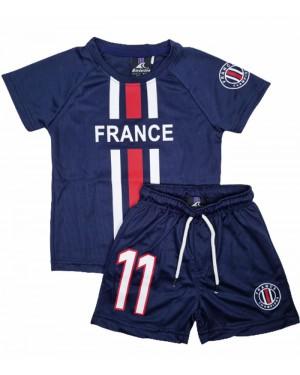 חליפת כדורגל צרפת מס' 11 לבנים