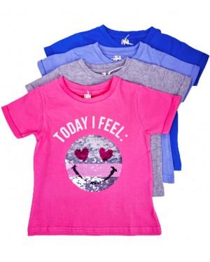 חולצה סמיילי פייטים צבעים לבחירה מידות 2-8