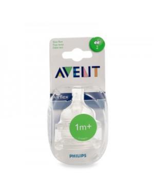 זוג פטמות לבקבוק | AVENT | אוונט | שלב 2 | גיל 1m+