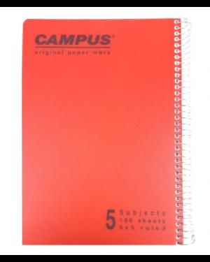 מחברת ספירלה חשבון   5 נושאים   A4   CAMPUS