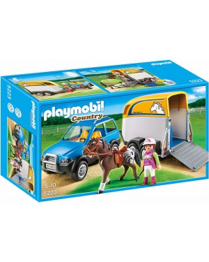 פליימוביל ג'יפ וקרון סוסים דגם 5223