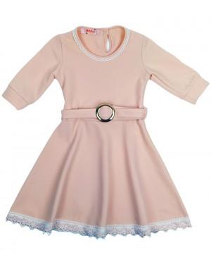 שמלה חגיגית צבע אפרסק בהיר מידות 8-18