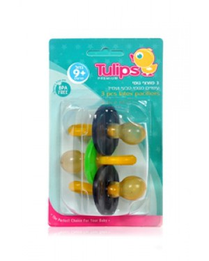 3 מוצצי גומי Tulips