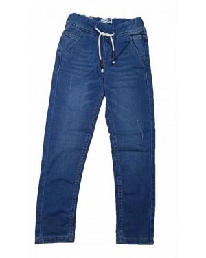 מכנס ג'ינס ארוך גומי מלא | נוער | מבחר צבעים
