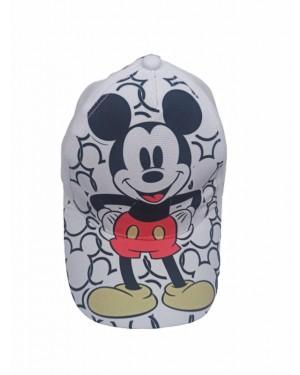כובע מצחיה ילדים | שחור לבן | מיקי מאוס