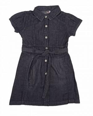 שמלת ג'ינס מעוצבת | גינס שחור