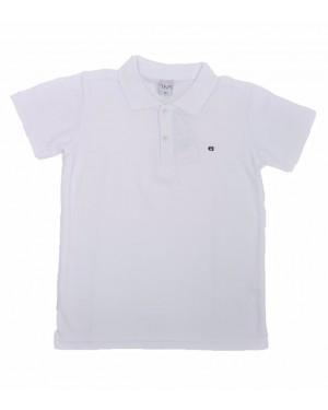חולצה קצרה פולו לנוער | צבע לבן