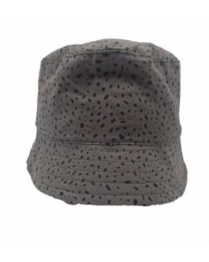 כובע רחב שוליים לתינוק | MINENE | ירוק צבא מנוקד