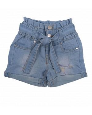 מכנס ג'ינס שורט קצר לבנות | מגוון צבעים