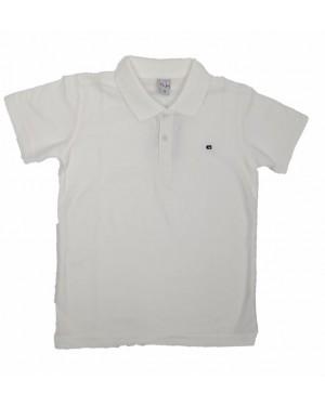 חולצה קצרה פולו לנוער | צבע שמנת