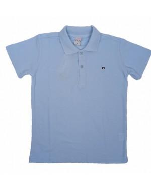 חולצה קצרה פולו לנוער   צבע תכלת