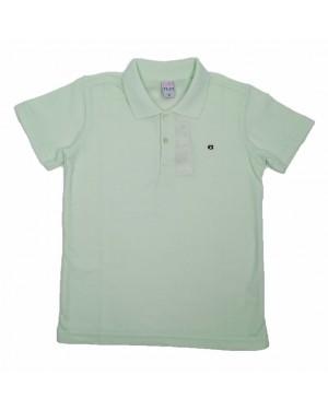 חולצה קצרה פולו לנוער   צבע ירוק בהיר