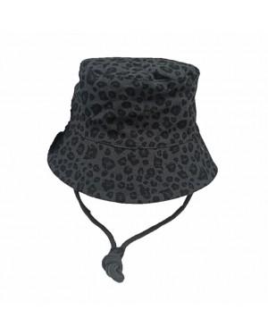 כובע רחב שוליים לתינוק | MINENE | מנומר אפור