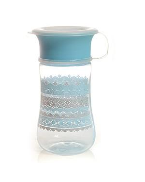 כוס אימון דנטל_כוס הפלא 360 מעלות בצבע כחול