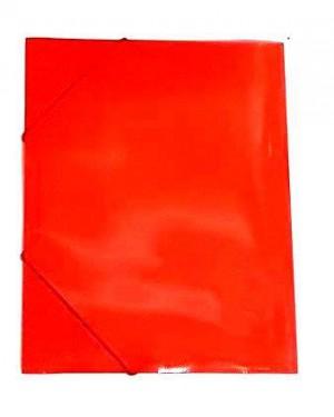 תיקייה עם גומי- צבע אדום
