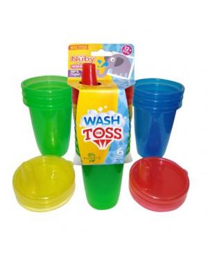 כוס עם מכסה | 6 יחידות במארז | NUBY