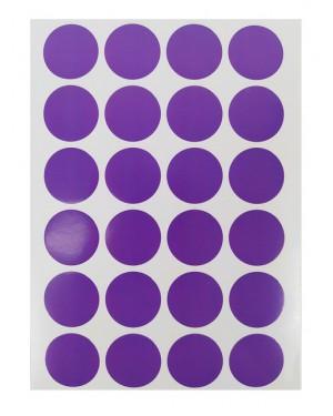 מדבקות עיגולים בצבע סגול