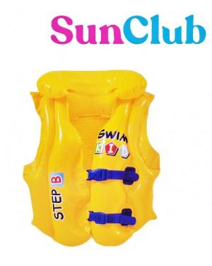 ווסט ציפה מתנפח צהוב ברשת בזאר שטראוס צעצועים