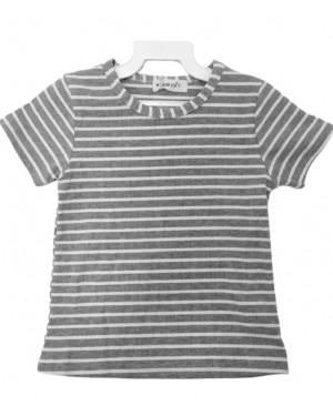 חולצת פסים קצרה לבנות