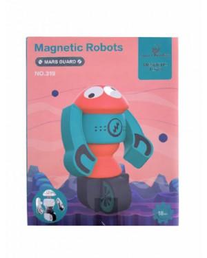 צעצוע רובוט מגנטי ורוד