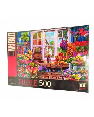 פאזל חנות פרחים - 500 חלקים