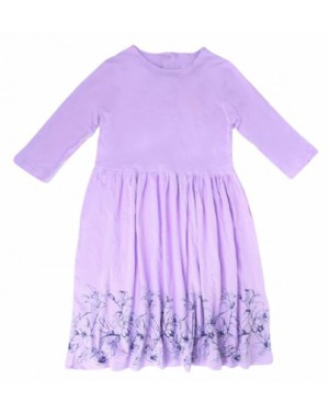 שמלת ג'רסי צבע סגול| מידות לבחירה