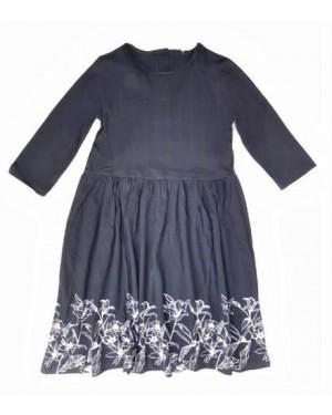 שמלת ג'רסי צבע שחור| מידות לבחירה