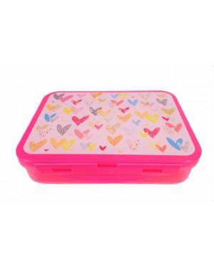 קופסת אוכל מחולקת- לבבות
