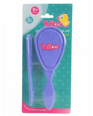 סט מברשת ומסרק לתינוק| Tulips