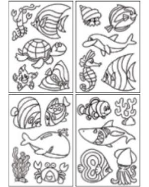 מדבקות שקפים- חיות ים