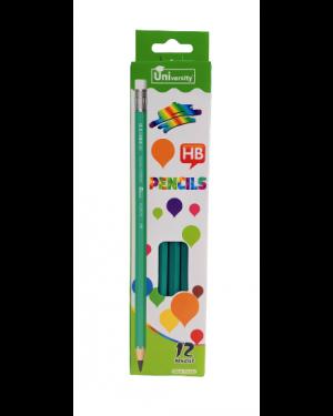 12 עפרונות+ מחקים