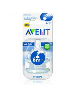 זוג פטמות מוצלבות לבקבוק | AVENT | אוונט | גיל 6m+