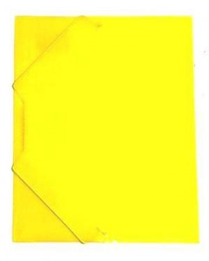 תיקייה עם גומי- צבע צהוב