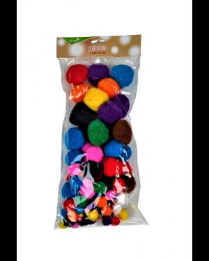 פונפונים צבעויים