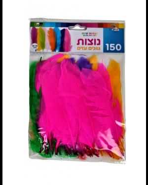 נוצות צבעים עזים 150 יח