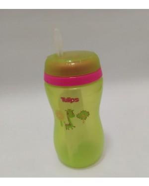 כוס אימון טוליפס  בצבע ירוק