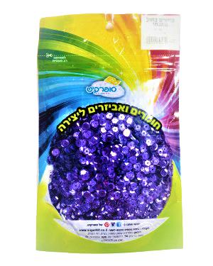 פייטים בצבע מתכתי | 100 גרם | צבע לבחירה