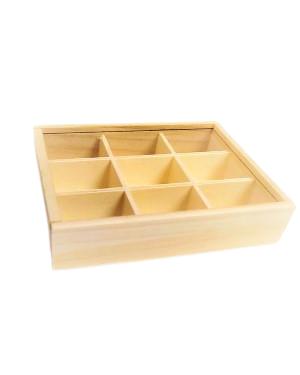"""קופסת עץ לעיצוב וצביעה אומנותי חופשי. מידות הקופסא : 14*16.5 ס""""מ"""