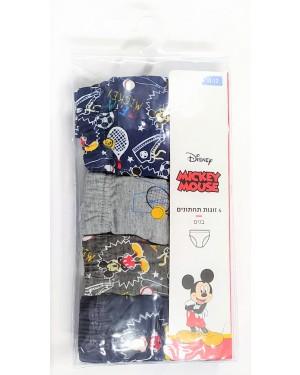 Mickey Mouse | תחתוני בנים | 4 יחידות