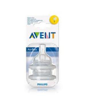 זוג פטמות לבקבוק | AVENT | אוונט | שלב 1 | גיל 0m+