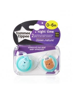 זוג מוצצים | night time | tommy tippee | טומי טיפי | מידות לבחירה