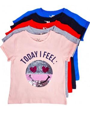 חולצה סמיילי פייטים צבעים לבחירה מידות 10-18